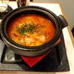 Gotto - 牛ホルモントマト煮込み:880円+残った凝縮スープでリゾット:200円