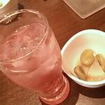 USHIMARU - ビワミン350円、付き出し