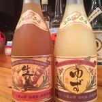 美豚 - 請福酒造、生姜とゆず梅酒。