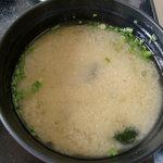 渚 - 丼とセットの味噌汁