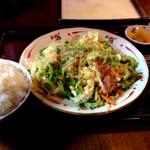 27961539 - ゴーヤちゃんぷる定食(850円)。