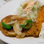 洋食屋さん - 料理写真:ポークジンジャー&大エビフライ【2014年5月】