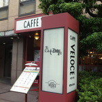 カフェ・ベローチェ - 入口のまわりの木がいい感じ (2014/6)