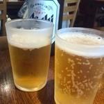 総本家 浪花そば - やっぱり昼間っからビール飲まなきゃっ!