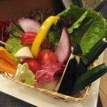松まつもと - お野菜のお造り  全て生でいただくのですよ!