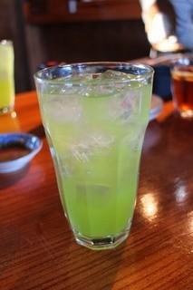 くろ吉 - 緑茶割り450円