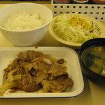 松屋 - 「豚生姜焼き定食」です。