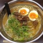 極麺 - 鶏白湯 600円! つるぴん麺で一気食い!