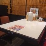 京らーめん 糸ぐるま - テーブル席