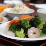 台湾料理 昇龍 - 料理写真:ランチセット 海老とブロッコリー800円