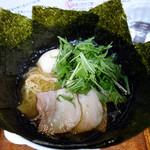 塩らーめん あいうえお - 四番の基本+味玉,水菜,海苔
