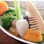 27980308 - リブステーキ 1000円 の温野菜