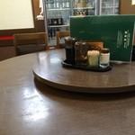香美園 - 入ってすぐの、丸い大テーブルに座りました