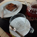 町家紅茶館 卯晴 - ブラウニーセット