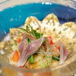 ベッラヴィスタ ラウンジ - 鯵のマリネを添えた茗荷とワサビの香る冷製カッペリーニ【2014年6月】