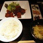 呑々道場 - 豚バラひと口カツ定食