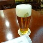 銀座ライオン - 2014.06 1杯目は琥珀エビス生グラス(420ml/710円)