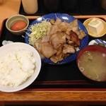 福徳食堂 - 豚生姜焼き定食¥810