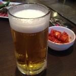 味蔵天国 - 大根キムチと生ビール
