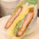 カフェサンドキッチン - エビカツタマゴ 480円