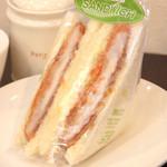 カフェサンドキッチン - ロースカツ 450円