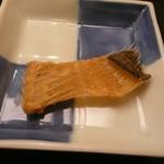 味 ふくしま - 向付の鰈の骨煎餅