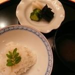 味 ふくしま - お食事はさっぱりと新生姜のご飯