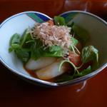 花隈 佐々木 - 新玉葱のトマトドレッシングサラダ仕立て