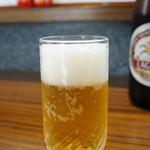 割烹 大力 - ビールは600円です