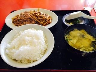 NEW 上海 - 細切り豚肉の甘酢炒め定食500円