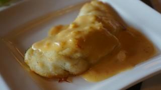 フレンチ 奥村邸 - 魚料理はスズキのポワレでした。