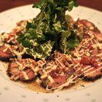 Dining Bar Sama Sama - 合鴨のパストラミカルパッチョ・ガーリックソース