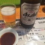 屋台安兵衛 - 瓶ビール500円 こじゃんと旨いアサヒですw