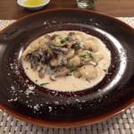 ラディーチェ - ゴルゴンゾーラと茸のオレキエッテ