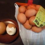 宝夢卵 - 料理写真:「宝夢卵 小玉 1kg (460円)」 ゆで卵はおまけです♪