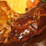 洋食屋 銀座グリルカーディナル - 特製ハンバーグとふわとろオムライス エビフライの三種盛り合せ