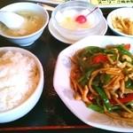 鳳凰閣 - 青椒肉絲定食