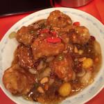 天津飯店 - 鶏肉唐揚銀杏入り甘酢辛味