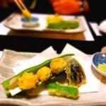 和食料理 和ごころ いなほ - 【2014年2月】一寸豆の海老はさみ揚げ