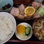 竹生 そば処 - 料理写真:焼豚定食