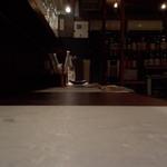 和キッチンしん介 - カウンターは堀こたつ式です