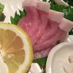 28066360 - 芳醇豚のお造り 甘くて美味しい〜σ(≧ε≦o)