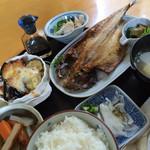 味工房 藍花 - 花(鯵の焼魚定食)820円