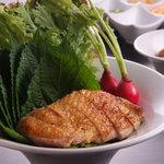 焼鳥 あすか家 - 【ヘルシー】鶏肉の包み野菜盛り