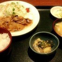 北の味紀行と地酒 北海道-生姜焼き定食(2014.5)
