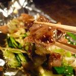 鉄板屋 欣 - ☆牛すじはなかなか肉厚で食べ応えあり☆