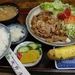 そば処 浅野屋 - (2009/9月)「焼肉ライス」の全景