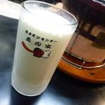 ホルモンセンター天狗家 - 「バナナジュース (ジョッキ) (520円)」。 これが抜群に美味しかった~♪