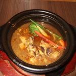 TAO - 料理写真:ランチC/国産若鳥とお野菜のスープカレー&五穀米¥1380