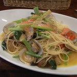 2812307 - アサリと辛子明太子、小松菜のペペロンチーノ ゆず風味
